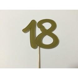 Numero 18 acrilico - preto