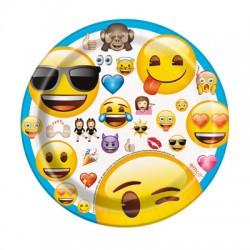 8 Pratos 20 cm Emoji