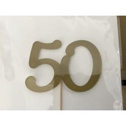Numero 50 acrilico - ouro