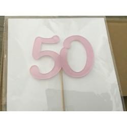 Numero 50 acrilico - rosa