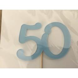 Numero 50 acrilico - azul