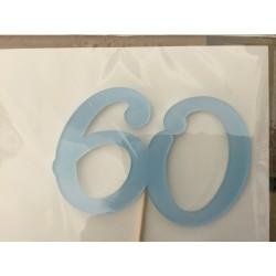 Numero 60 acrilico - azul