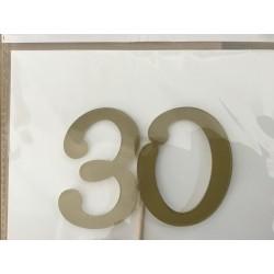 Numero 30 acrilico - ouro