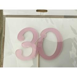 Numero 30 acrilico - rosa