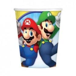 Conj. 8 copos Super Mário