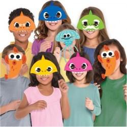 8 Máscaras Baby Shark