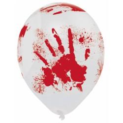 6 balões de latex Halloween